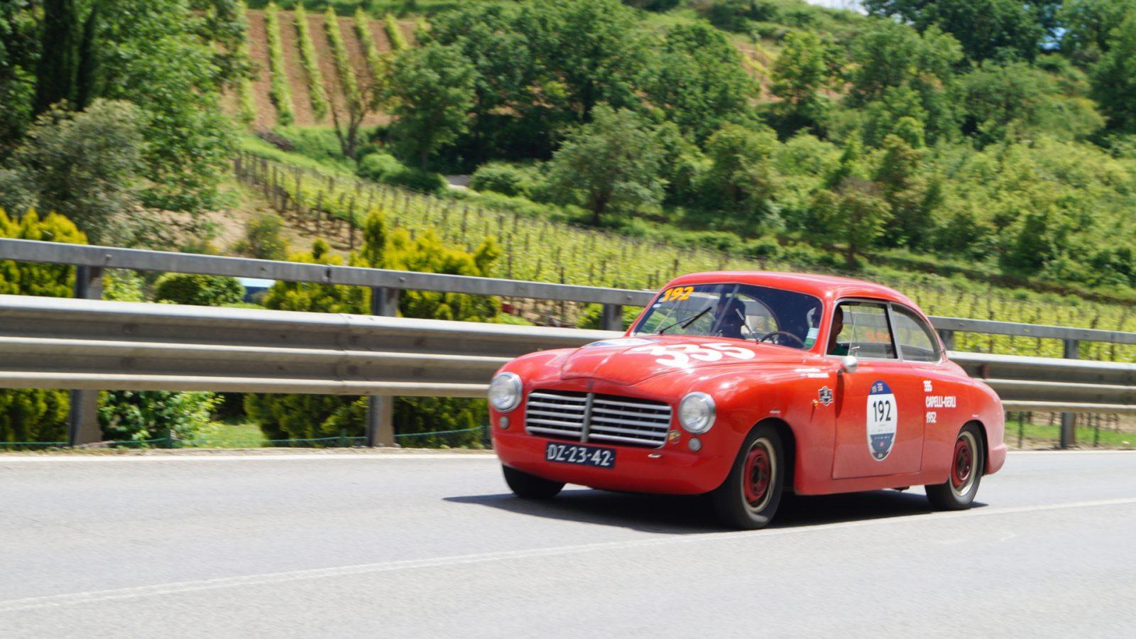 Abarth 1400 Touring Superleggera (1950), Mille Miglia eligible car