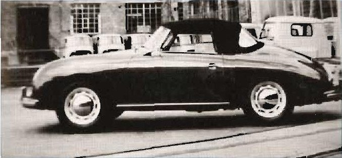 """A Convertible """"D"""" at Karosserie Draus in Heilbron, West Germany."""