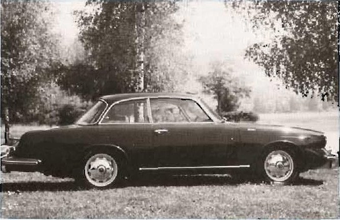 The stretch 1961 Porsche coupe, as built by Gebruder Beutler, Thun, Switzerland. This limited production automobile was also made in a convertible version. Beutler is still in business. (Photo courtesy Beutler, Thun, Switserland)